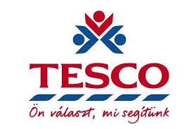 A támogató TESCO áruház pályázati logója